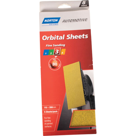 Norton Orbital Sheet - 80 Grit, 5 Pack, , scanz_hi-res
