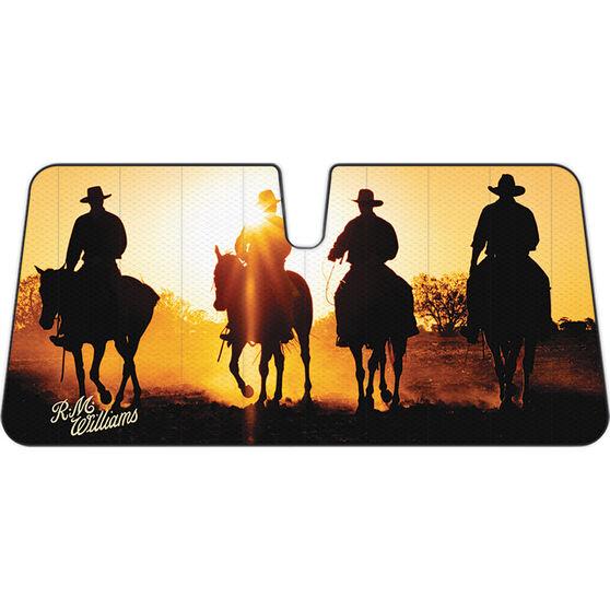 R.M. Williams Horses Sunshade Accordion Front, , scanz_hi-res