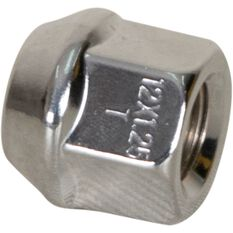 Calibre Wheel Nuts, Tapered Open End, Chrome - OEN12125, 12mm x 1.25mm, , scanz_hi-res