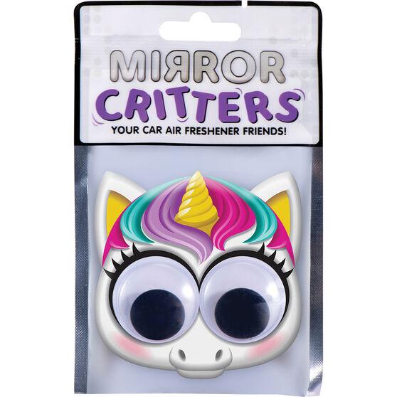 Mirror Critter Air Freshener - Unicorn Cotton Candy, , scanz_hi-res