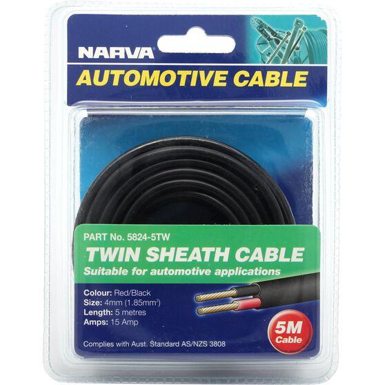 Narva Automotive Cable Twin Sheath 5 Metres 15 AMP, , scanz_hi-res