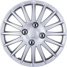 SCA Wheel Covers - Turbine, Silver, 13in, Set of 4, , scanz_hi-res
