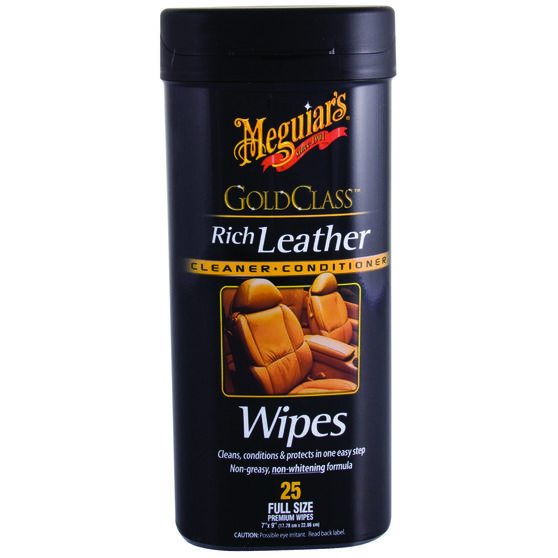 Meguiar's Gold Class Leather Wipes - 25 Pack, , scanz_hi-res