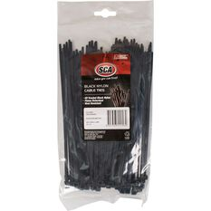 SCA Cable Ties - 200mm x 4.8mm, 100 Pack, Black, , scanz_hi-res