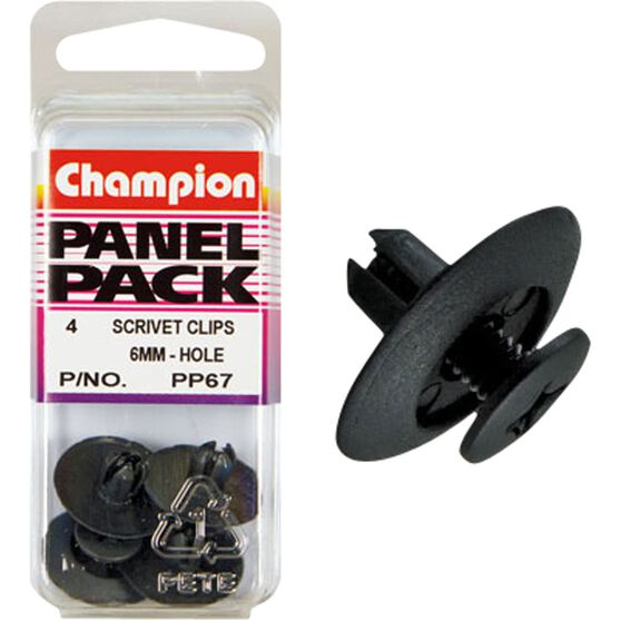 Champion Scrivet Clips - 6mm, PP67, Panel Pack, , scanz_hi-res