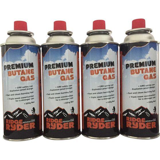 Butane Gas - 220g, 4 Pack, , scanz_hi-res