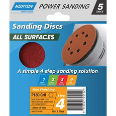 Norton Disc Sander 180 Grit 125mm, , scanz_hi-res