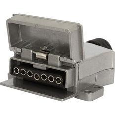 Trailer Socket - 7 Pin, Metal, Flat, , scanz_hi-res