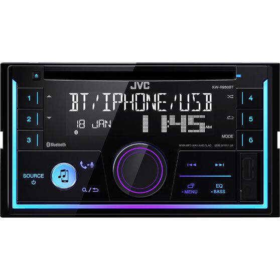 JVC Double Din CD / Digital Media Player with Bluetooth - KW-R930BT, , scanz_hi-res