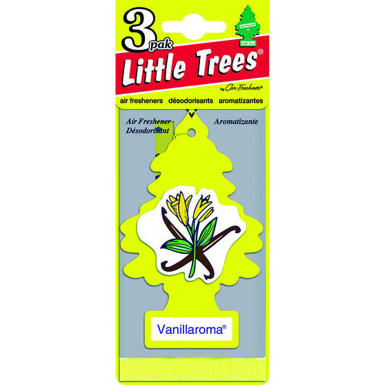 Little Trees Air Freshener - Vanillaroma, 3 Pack, , scanz_hi-res