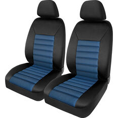 SCA Memory Foam Seat Cover - Blue Adjustable Headrests Front Pair Size 30, , scanz_hi-res