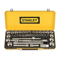 Stanley Socket Set - 1 / 2 inch Drive, Metric / Imperial, 40 Piece, , scanz_hi-res