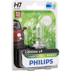 Philips LongLife EcoVision H7 Headlight Globe 12V 55W, , scanz_hi-res