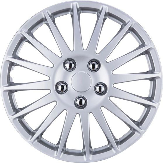 """SCA Wheel Covers - Turbine Silver 15"""" Set of 4, , scanz_hi-res"""