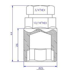 Calibre Wheel Nuts, Tapered Slim, Chrome - SLN14150, 14mm x 1.50mm, , scanz_hi-res