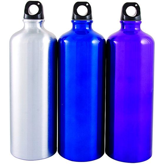 Sports Bottle - Aluminium, 1 Litre, , scanz_hi-res