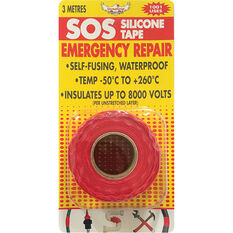 DynaGrip SOS Silicone Tape - Red, 3m x 25mm, , scanz_hi-res