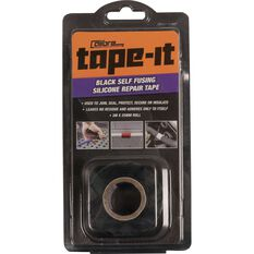 Calibre Tape-It Self-Fusing Silicone Tape - Black, 3m x 25mm, , scanz_hi-res