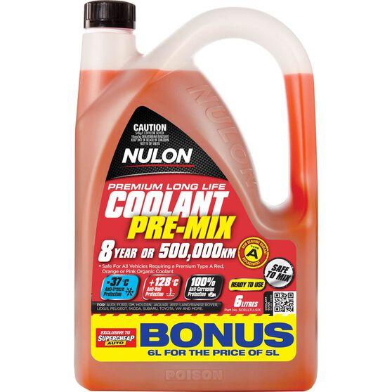 Nulon Anti-Freeze / Anti-Boil Red Premix Coolant - 6 Litre, , scanz_hi-res