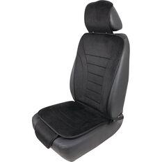 Cabin Crew Reversible Seat Cushion - Black Velour/Mesh, , scanz_hi-res