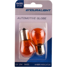 Enduralight Automotive Globe - Indicator, Amber, 12V, 21W, 2 Pack, , scanz_hi-res
