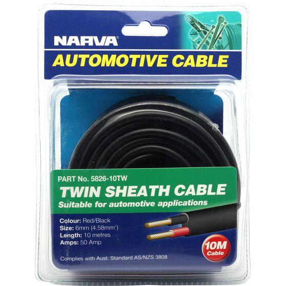 Narva Automotive Cable Twin Sheath 10 metres 50 AMP, , scanz_hi-res