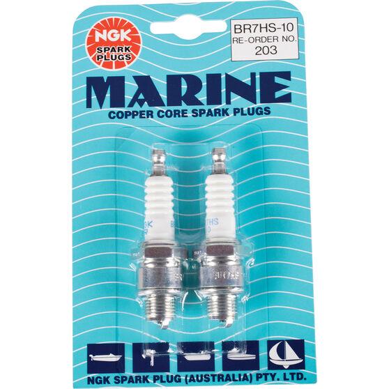 NGK Marine Spark Plug - BR7HS-10, 2 Pack, , scanz_hi-res