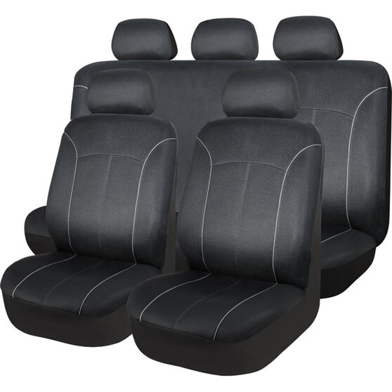 SCA Mesh Seat Cover Pack - Black, Adjustable Headrests, Size 30 Front Pair Airbag Compatible, , scanz_hi-res