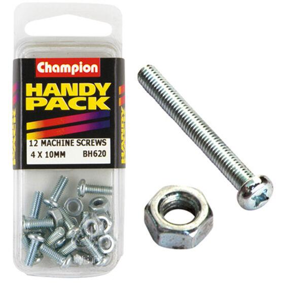 Champion Machined Screws / Nuts - 4mm X 10mm, BH620, Handy Pack, , scanz_hi-res