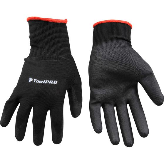 ToolPRO Polyurethane Dipped Gloves - One Size, Black, , scanz_hi-res