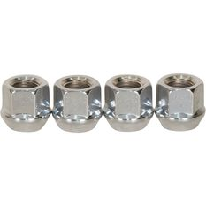 Wheel Nuts, Tapered Open End, Chrome - 1/2, , scanz_hi-res