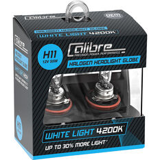 Calibre Headlight Globe H11 12V 55W White Light, , scanz_hi-res