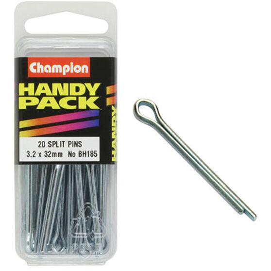 Champion Split Pins - 3.2mm X 32mm, BH185, Handy Pack, , scanz_hi-res