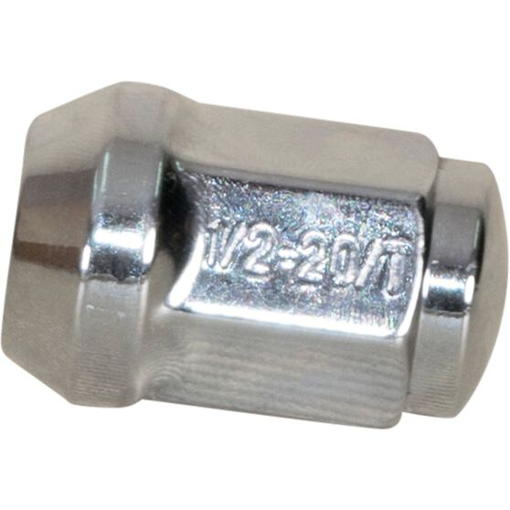 Calibre Wheel Nuts, Tapered, Chrome - SN12, 1 / 2inch, , scanz_hi-res