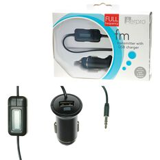 Aerpro FM Transmitter with USB Charger, , scanz_hi-res
