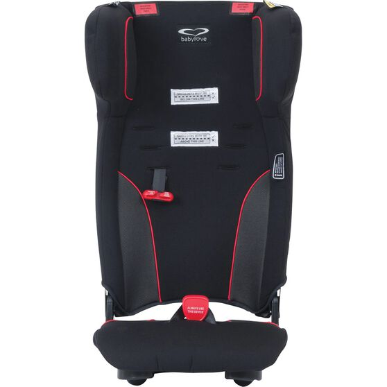 Babylove Ezy Move Booster Seat - Black / Red, , scanz_hi-res