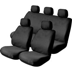 Mesh Seat Cover Pack -  Black, Adjustable Headrests, Size 30 & 06H, Front Pair & Rear, Airbag Compatible, , scanz_hi-res