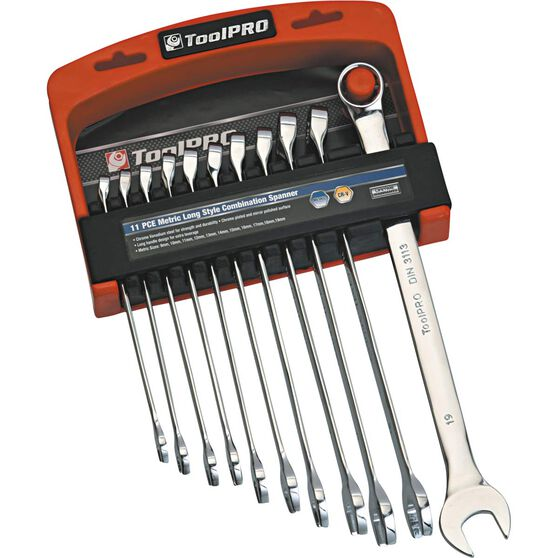 ToolPRO Spanner Set - Extra Long, Combination, 11 Piece, , scanz_hi-res