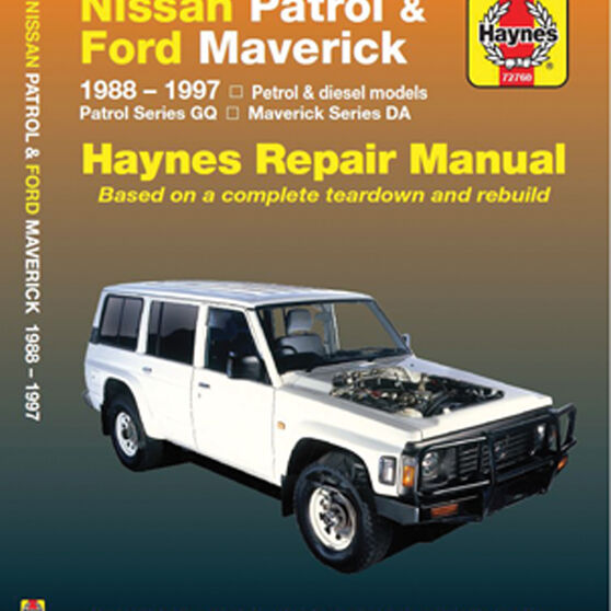 Haynes Car Manual For Nissan Patrol / Ford Maverick 1988-1997 - 72760, , scanz_hi-res
