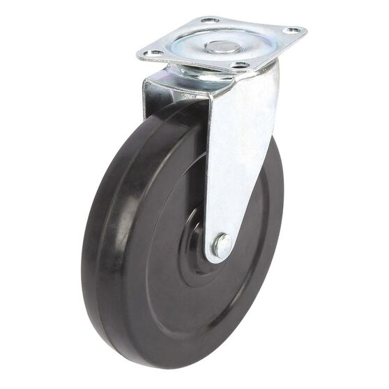 SCA Castor Wheel - 125 x 26mm, Plastic, Swivel, , scanz_hi-res