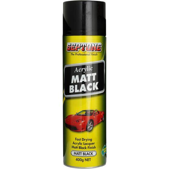 Septone Acrylic Aerosol Paint - Matt Black, 400g, , scanz_hi-res