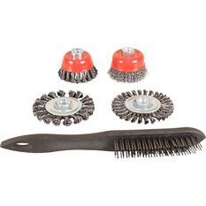 ToolPRO Steel Wire Brush Set - 5 Piece, , scanz_hi-res