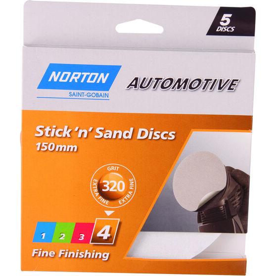 Norton Sticky Disc - 320 Grit, 5 Pack, , scanz_hi-res