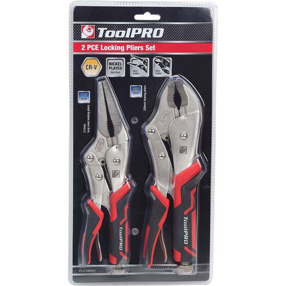 ToolPRO Large Locking Plier Set - 2 Pieces, , scanz_hi-res