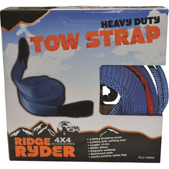 Ridge Ryder Tow Strap Webbing - 10m, 4500kg, , scanz_hi-res