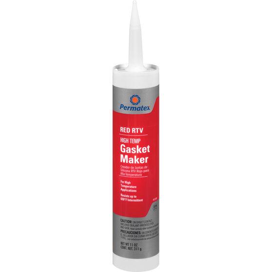 Permatex High-Temp RTV Silicone Gasket Maker - Red, 311g, , scanz_hi-res