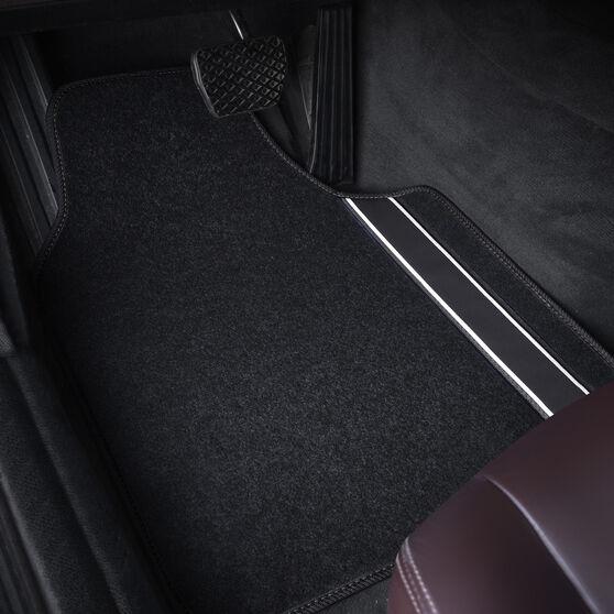 SCA Racing Car Floor Mats - Carpet, Black / Black, Set of 4, , scanz_hi-res