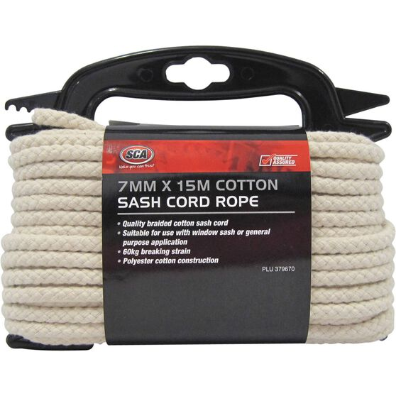 Sash Cord Rope - Cotton, 7mm x 15m, , scanz_hi-res