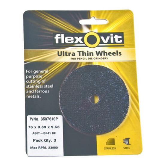Cut Off Wheel - 50 x .89 x 9.53mm, 3pk, , scanz_hi-res