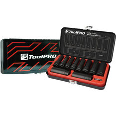 ToolPro Impact Deep Socket Set - 1 / 2inch Drive, Metric, 10 Piece, , scanz_hi-res